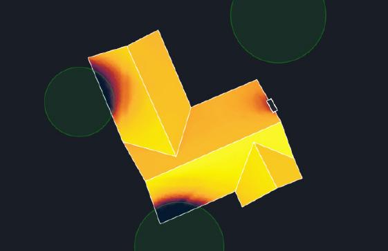 Az Aurora szoftver által készített bevilágítottsági hőtérkép